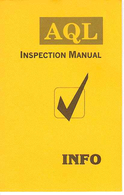 AQL Inspection Manual, 16 pages of instruction